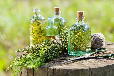 Herbs and Bottles
